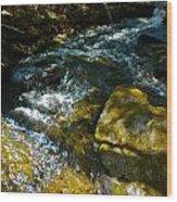 Shadowed Cascade Wood Print