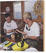 Shark Protection Device Wood Print