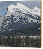 Sharp Rundle Peaks Wood Print