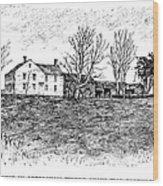 Shays Rebellion, 1787 Wood Print