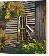 Shed Wood Print by Suni Roveto