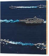 Ships From The John C. Stennis Carrier Wood Print