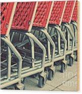 Shopping Carts Wood Print