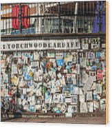 Shrine To Ianto Wood Print