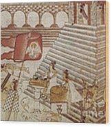 Siege Of Tenochtitlan 1521 Wood Print