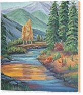 Sierra Creek Wood Print