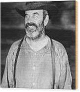 Silent Film Still: Beards Wood Print