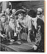 Silent Film Still: Pirates Wood Print