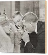 Silent Film Still: Smoking Wood Print
