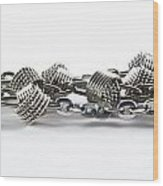 Silver Jewel Chain Wood Print by Blink Images