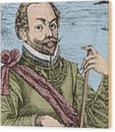 Sir Francis Drake, English Explorer Wood Print
