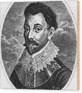 Sir Francis Drake, English Explorer Wood Print by Photo Researchers