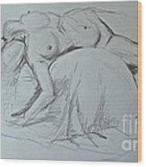 Sketch Class Wood Print
