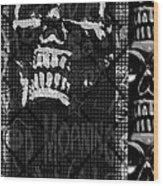 Skull Montage Wood Print