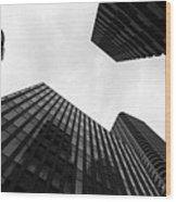 Skyscrapers In Tsukudajima Wood Print