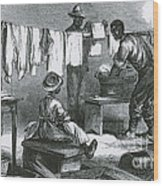 Slaves In Union Camp Wood Print by Photo Researchers