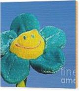 Smile Flower Wood Print
