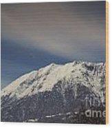 Snow-capped Alps Wood Print