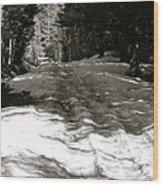 Snow In April Wood Print