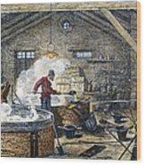 Soap Manufacture, C1870 Wood Print
