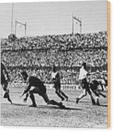Soccer Match, 1930s Wood Print