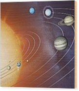 Solar System Orbits, Artwork Wood Print