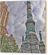 Soldiers And Sailors Monument In Lafayette Square Wood Print