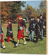 Soldiers March Wood Print