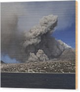 Soufriere Hills Eruption, Montserrat Wood Print
