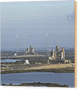 Space Shuttle Atlantis And Endeavour Wood Print