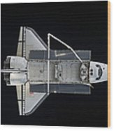 Space Shuttle Atlantis Backdropped Wood Print