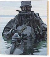 Special Operations Forces Combat Diver Wood Print