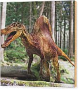 Spinosaurus Dinosaur Wood Print