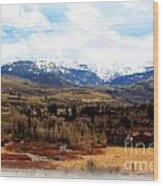 Spring In The Rockies Wood Print