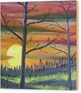 Spring Sunrise Wood Print