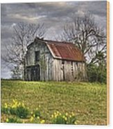 Spring Time Barn Wood Print