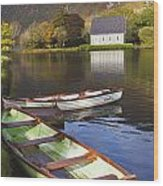 St. Finbarres Oratory And Rowing Boats Wood Print