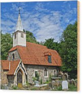 St Laurence Church Cowley Middlesex Wood Print