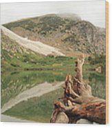 St. Mary's Lake And Glacier Wood Print