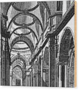 St. Paul's Cathedral, Historical Artwork Wood Print by Middle Temple Library