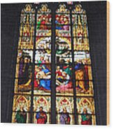 Stained Glass Window Wood Print by Suhas Tavkar