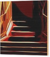 Stairs At Palace Avenue Wood Print