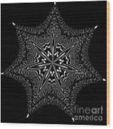 Star Fish Kaleidoscope Wood Print