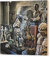 Statues Wood Print
