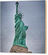 Staute Of Liberty Wood Print