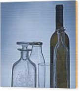 Still Life Of Bottles  Wood Print
