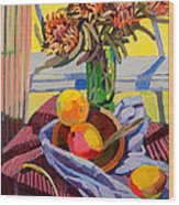 Still Life With Mangoes Wood Print