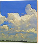 Storm Clouds Rising  Art Wood Print