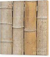 Straight Bamboo Poles Wood Print