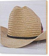 Straw Weave Cowboy Hat Wood Print